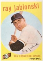 1959 Topps Baseball Cards      342     Ray Jablonski