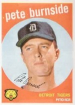 1959 Topps Baseball Cards      354     Pete Burnside
