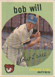 1959 Topps Baseball Cards      388     Bob Will RC