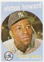 1959 Topps Baseball Cards      395     Elston Howard