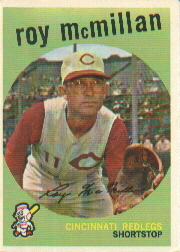 1959 Topps Baseball Cards      405     Roy McMillan