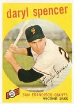 1959 Topps Baseball Cards      443     Daryl Spencer