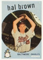 1959 Topps Baseball Cards      487     Hal Brown