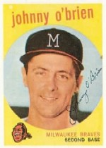 1959 Topps Baseball Cards      499     Johnny O Brien