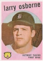1959 Topps Baseball Cards      524     Larry Osborne RC