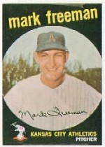 1959 Topps Baseball Cards      532     Mark Freeman RC