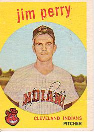 1959 Topps Baseball Cards      542     Jim Perry RC