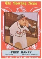 1959 Topps Baseball Cards      551     Fred Haney AS MG