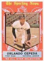 1959 Topps Baseball Cards      553     Orlando Cepeda AS