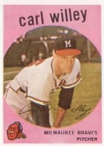 1959 Topps Baseball Cards      095      Carl Willey