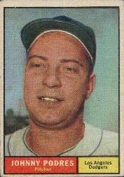 1961 Topps Baseball Cards      109     Johnny Podres