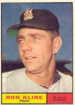 1961 Topps Baseball Cards      127     Ron Kline