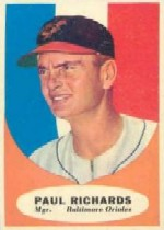1961 Topps Baseball Cards      131     Paul Richards MG