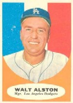 1961 Topps Baseball Cards      136     Walter Alston MG