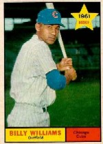 1961 Topps Baseball Cards      141     Billy Williams RC