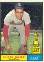 1961 Topps Baseball Cards      148     Julian Javier
