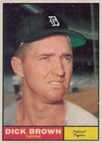 1961 Topps Baseball Cards      192     Dick Brown
