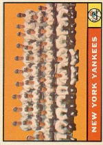 1961 Topps Baseball Cards      228     New York Yankees TC