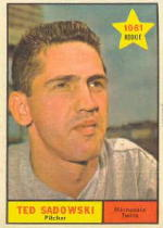 1961 Topps Baseball Cards      254     Ted Sadowski RC