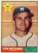 1961 Topps Baseball Cards      029      Don Nottebart