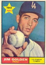 1961 Topps Baseball Cards      298     Jim Golden RC