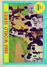 1961 Topps Baseball Cards      312     World Series Game 7-Bill Mazeroski