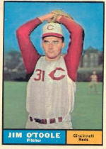 1961 Topps Baseball Cards      328     Jim O Toole