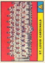 1961 Topps Baseball Cards      347     St. Louis Cardinals TC