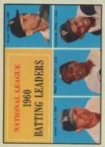 1961 Topps Baseball Cards      041      NL Batting Leaders-Dick Groat-Norm Larker-Willie Mays-Roberto Clemente