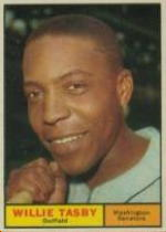 1961 Topps Baseball Cards      458     Willie Tasby