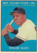 1961 Topps Baseball Cards      482     Willie Mays MVP