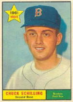 1961 Topps Baseball Cards      499     Chuck Schilling RC