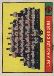 1961 Topps Baseball Cards      086      Los Angeles Dodgers TC