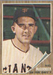 1962 Topps      107     Mike McCormick