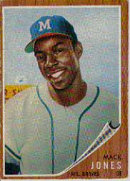 1962 Topps      186A    Mack Jones Green Tint