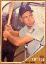 1962 Topps      298     Bill Tuttle