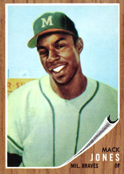1962 Topps      186     Mack Jones RC