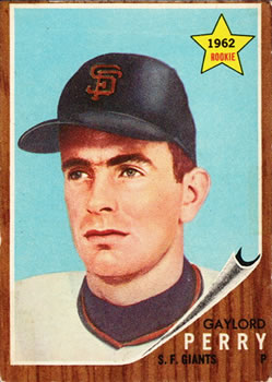 1962 Topps      199     Gaylord Perry RC