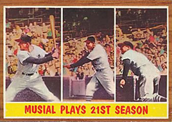 1962 Topps      317     Musial Plays 21st Season (Stan Musial)