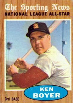 1962 Topps      392     Ken Boyer AS UER
