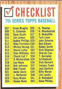 1962 Topps      516B    Checklist 7 Yellow Boxes