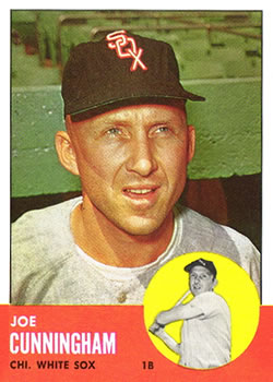 1963 Topps Baseball Cards      100     Joe Cunningham