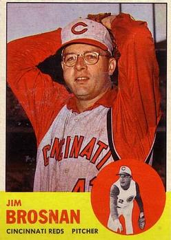 1963 Topps Baseball Cards      116     Jim Brosnan