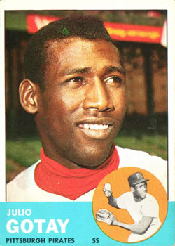 1963 Topps Baseball Cards      122     Julio Gotay