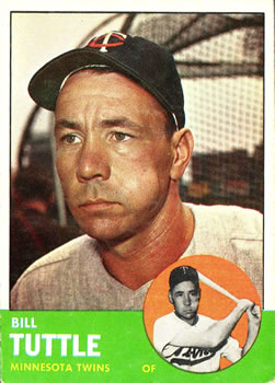 1963 Topps Baseball Cards      127     Bill Tuttle