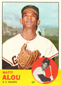 1963 Topps Baseball Cards      128     Matty Alou