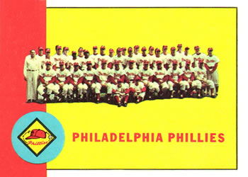 1963 Topps Baseball Cards      013      Philadelphia Phillies TC