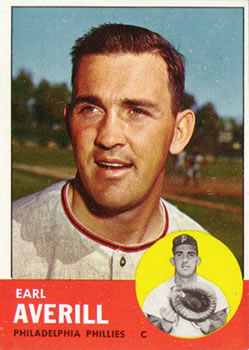 1963 Topps Baseball Cards      139     Earl Averill Jr.