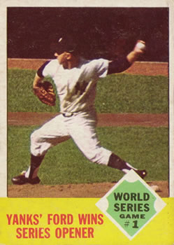 1963 Topps Baseball Cards      142     Whitey Ford WS1