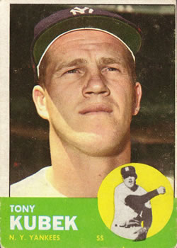 1963 Topps Baseball Cards      020      Tony Kubek